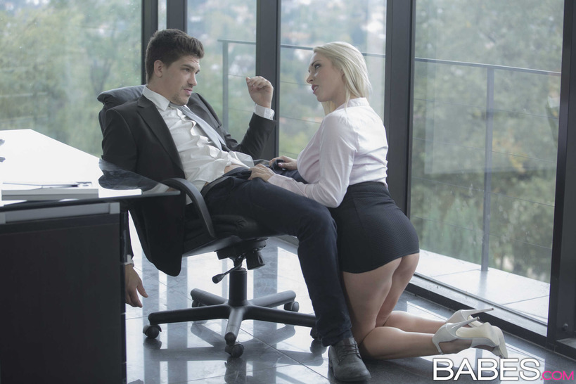Office obsession victoria summers and leanna sweet share bosses cock 4