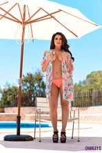 Charlotte Springer Gets Topless Near The Pool  13