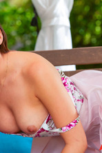 Hot Melissa Moore Gets Nude Outdoors 06