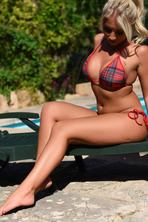 Stacey Robyn Strips By The Pool  01