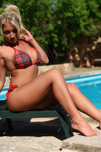 Stacey Robyn Strips By The Pool  02