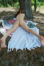 Pretty Ukrainian babe Hilary C enjoys the warm weather 19