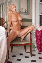 gorgeous blonde Ukrainian darling Sarika A realizes she's getting aroused 14