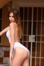 Jennifer Teasing In White Bodysuit 08