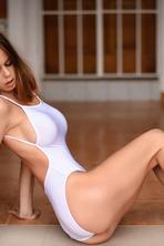 Jennifer Teasing In White Bodysuit 13