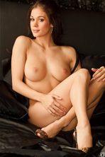 Lauren Elise Slips Off Her Black Lingerie 05