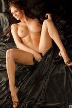 Lauren Elise Slips Off Her Black Lingerie 06