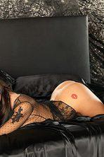 Lauren Elise Slips Off Her Black Lingerie 12