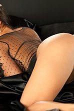 Lauren Elise Slips Off Her Black Lingerie 13