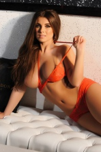 Sarah McDonalds In Sexy Orange Bikini 14