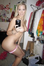 Britney Beth Stripping To Show Her Hooters And Pussy 11