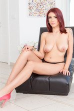 Sexy sweet Amina Danger with her shy voice layed down onto our sofa to pleasure herself 01