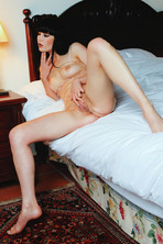 Gorgeous black haired babe Malena looks irresistible 04