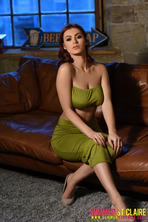 Summer St. Claire Peels Off Her Sexy Green Dress 00