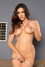 Sunny Leone Strips Off Her Sexy Black Lingerie 10