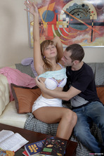 Horny Blonde Teen Irene 01
