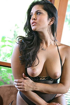 Latina Babe On Her See Thru Lingerie