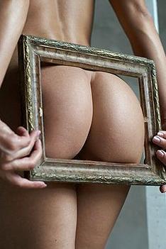 Blonde Desiree In Framed Beauty