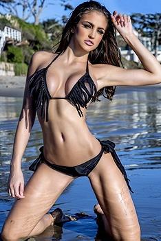 Jaclyn Swedberg On The Beach