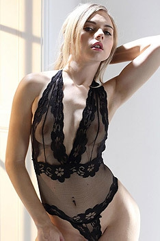 Chloe Toy In Sexy Black Lingerie