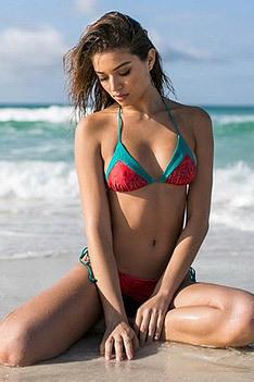 Lina Shekhovtsova On The Beach