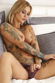 Amazing Tattooed Babe Kleio Valentien