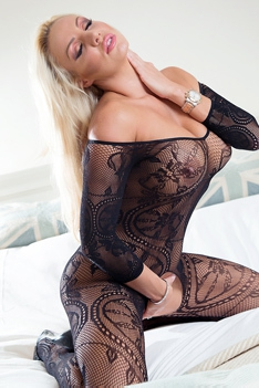 Dannii Harwood In Sexy Lace Bodystockings