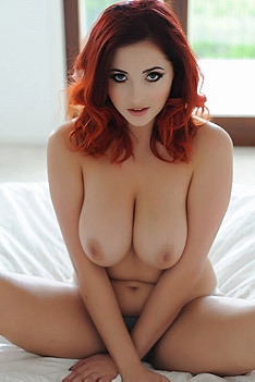 Busty Redhead Lucy Vixen Shows Her Big Tits