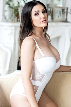 Lucy Pinder In White