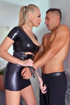 Busty Mistress Kayla Green Dominates A Waiter