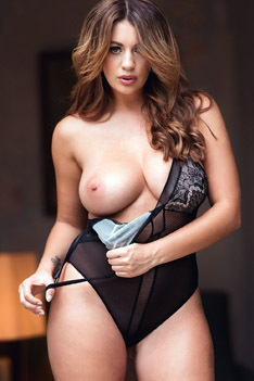Holly Peers Stuns In Her See Through Body Suit