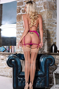 Lexi Lowe Teasing In Sexy Pink Lace