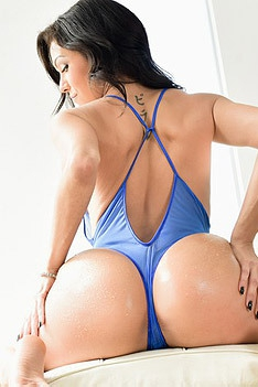 Hot Latina Samia Duarte In Sexy Blue Lingerie
