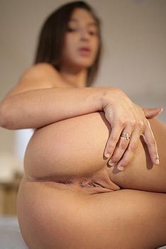 Hot Assed Brunette Abella Danger Spreads Her Pussy