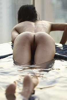 Sexy Asian Babe Poolside Fun