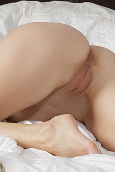 Malena Shows Her Shaved Pussy