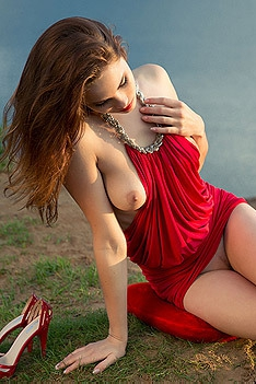 Diana Strips Off Her Sexy Red Dress