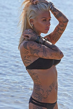 Sexy Tattooed Blonde Candice Bettison