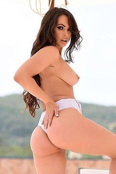 Anastasia Harris Strips Off Her White Lingerie