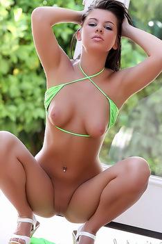Destiny Moody In Yellow Bikini