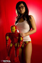 Violet Posing With Iron Man 00