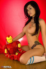 Violet Posing With Iron Man 14